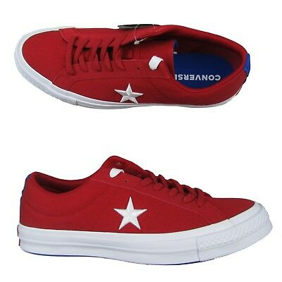 new style 2f8f3 11ed0 Converse One Star Ox Low Shoes Size 11 Mens Red White Skater 160595C New