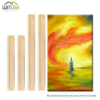 Canvas Stretcher Bars Frames Oil Painting Prints DIY Photo Wooden Strips Kit