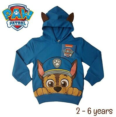 Boys Paw Patrol Chase Hoodie Sweater Jumper Sweatshirt Top Warm Hooded