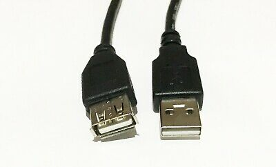 (2/Pack) Digital Kynect 10ft USB 2.0 A-Male to A-Female Extension Cable