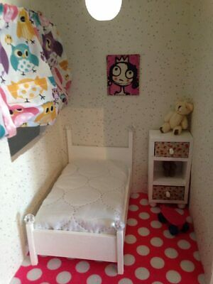 barbie doll size furniture bed kids size for Chelsea,Kelly dolls.  more colours!