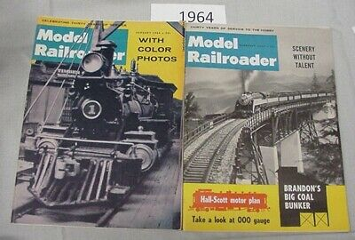 Model Railroader Magazine Complete Year 1964 12 issues