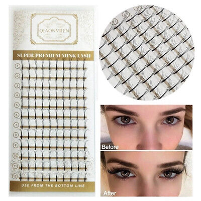 Russian Volume Lashes Individual Eyelash Extensions C Curl 9mm - 13mm Premade