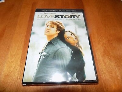 LOVE STORY DVD Ryan O'Neal Ali MacGraw 1970's Romance Classic DVD SEALED NEW