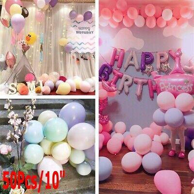 50pcs 10 inch Colorful Pearl Latex Balloon Celebration Party Wedding Birthday @B