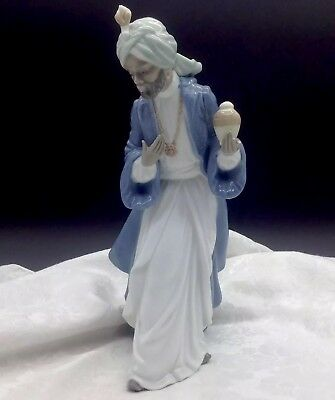 NEW NAO BY LLADRO #412 KING GASPAR WITH CUP BRAND NIB CHRISTMAS NATIVITY TALL FS