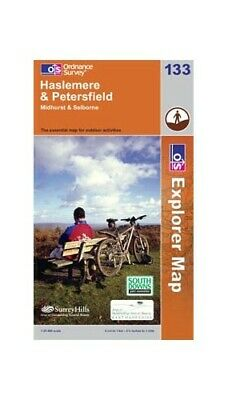 Haslemere & Petersfield OS Explorer Map ... by Ordnance Survey Sheet map, folded