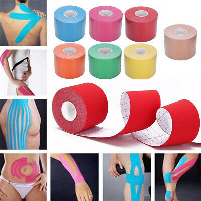 5m Kinesiology Tape Athletic Body Muscle Support Sport Physio Therapeutic Tape
