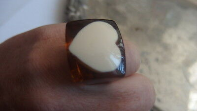 Bakelit **Bakelite ** Ring ** Heart ** 50er Jahre ** New Orleans ** USA** TOP