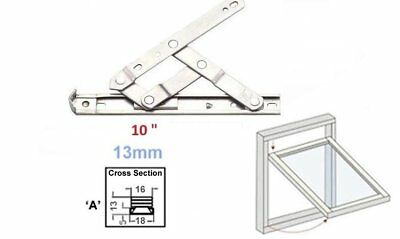 """UPVC Window Hinges Friction Stays  10""""  Pair 13mm stack"""