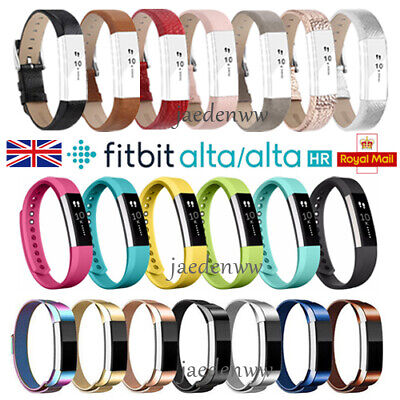 For Fitbit Alta / Alta HR Stainless / Leather Watch Replacement Band Wrist Strap