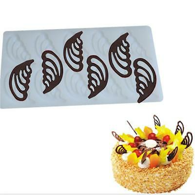 Fairy Wings Shaped Silicone Cake Chocolate Mold Decorating Pastry Baking Tool CB