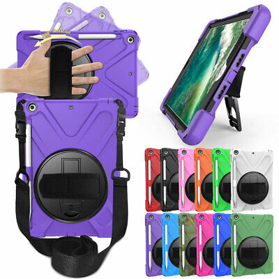 "Shockproof Hand Shoulder Strap Hard Case For Apple iPad 9.7"" 6th 5th Gen 2018"