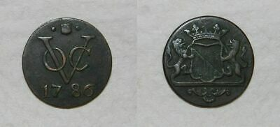 NETHERLANDS INDIES - COPPER DUIT 1786 - VOC -  VF for issue & NICE