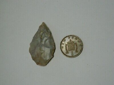 large Neolithic / Mesolithic ancient flint arrow head metal detecting detector