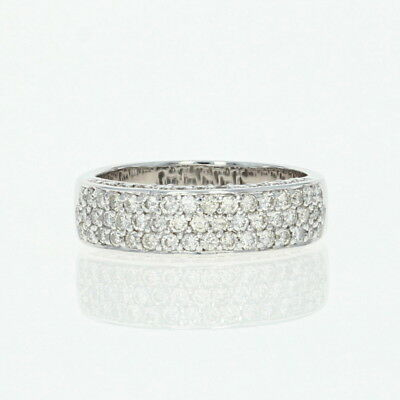 a238f33ab GUCCI DIAMANTISSIMA DIAMOND Band Ring in 18K White Gold Size 18 US 8 ...