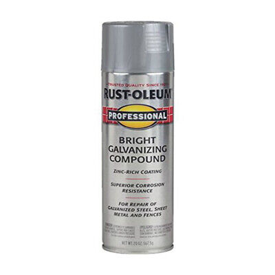 RUST-OLEUM 7584-838 PROFESSIONAL Galvanizing Compound Spray Paint, 20 Oz