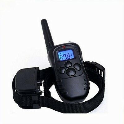 330Yard Waterproof Rechargeable Electric Remote for 1 Dog Shock Training Collar