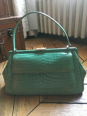 d20c31ab6 TIFFANY & CO Laurelton crocodile Top handle handbag in Tiffany blue ...