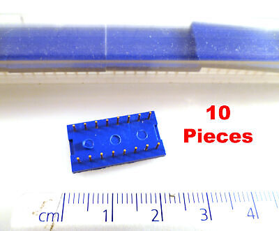 Cambion 1005-02-03-16 DIL IC Dummy 16 Pin Blue 10 Pieces MBF012K