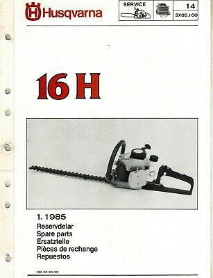 HUSQVARNA 24H HEDGE Trimmer Parts Manual  Acquired from a