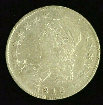 1810 Capped Bust Silver Half 50C   Reduced 9/23/19   (6844)