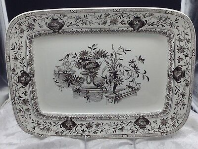 Powell Bishop Stonier PB & S Antique Eastlake Honfleur Serving Platter Plate