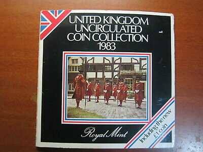 1983 Royal Mint Uncirculated Set Coins Great Britain - Scarce Coins