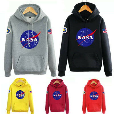 Hommes NASA SPACE Sweat à capuche Pull-over Amoureux Manteau Pull Sweat-shirt