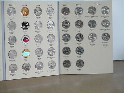 50 STATE  &  6 TERRITORY QUARTERS,   COMPLETE SET,  album/folder   UNCIRCULATED