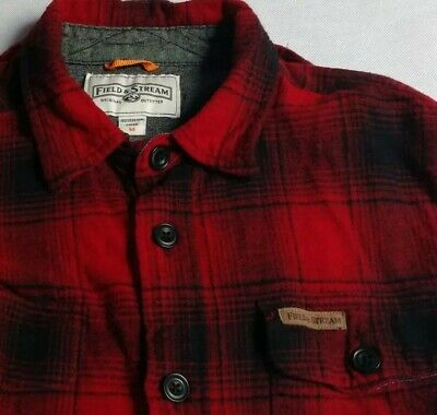 2bd1224d1 MENS BRAWNY BUFFALO Plaid Flannel Shirt Long Sleeves Button Front ...