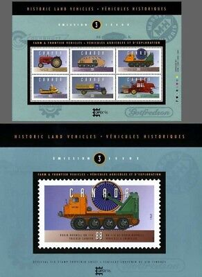 Canada Stamp #1552 - Historic Land Vehicles-3 (1995)  With Hard Cover MNH