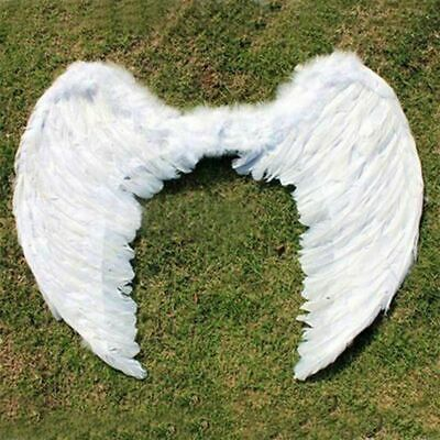 Party Photography Costume Swan Angel White Feather Wings Halloween kids