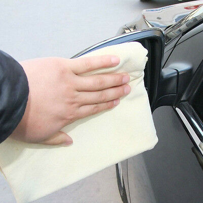 Natural Chamois Leather Cloth Suede Car Cleaning  Washing Absorbent Towel