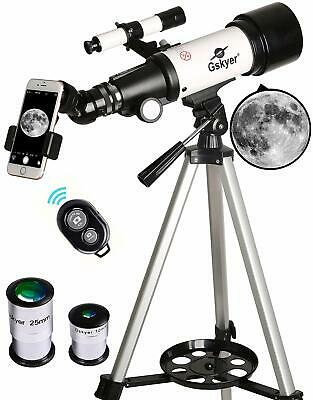 Telescope, Travel Scope, 70mm Aperture 400mm AZ Mount Astronomical Refractor...
