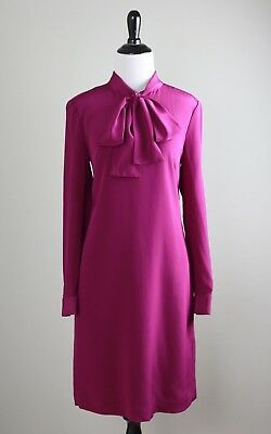 cb722de8b81c3f TED BAKER London NWT  335 Yanka 100% Silk Pussy Bow Tunic Dress Size 2 US
