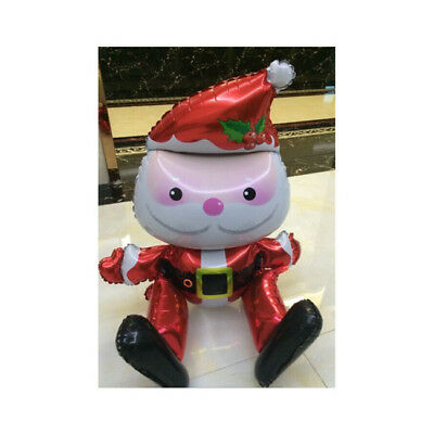 HOT Christmas Party Home Party Decor Santa Clause Foil Balloons Toy CB