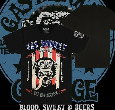 Hurry Sale Official Gas Monkey Garage Car Mechanics Dad T-Shirts Clearance Items