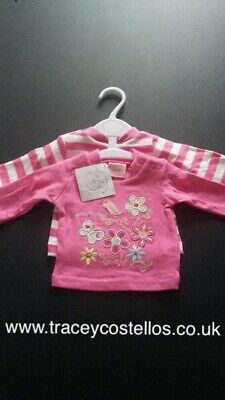 Baby Girl T-shirt Long Sleeved Pink 2 Pack 3-6 Months