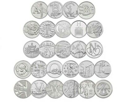 Great British Coin Hunt 2018, A to Z Letters from the 10p coin bu collection