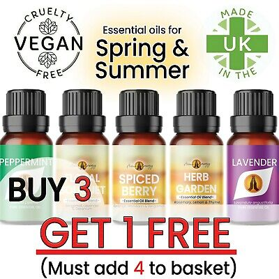 Pure Essential Oils Natural Essential Oil Aromatherapy Fragrances Diffuser 10ml