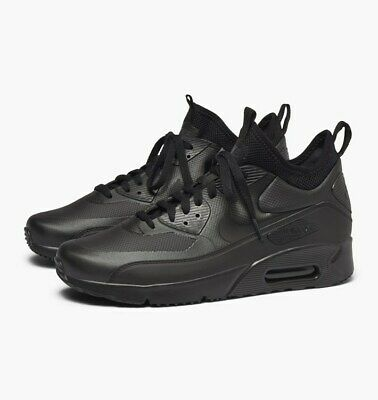 Details about NIKE AIR MAX 90 ULTRA MID WINTER TRAINERS, UK10, BLACKANTHRACITE, 924458004