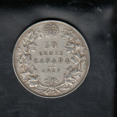 1919 Canada Silver 50 Cents