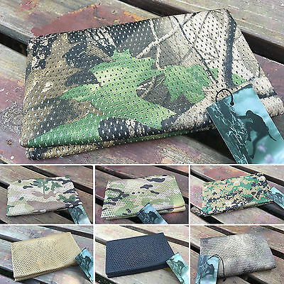 Unisex Mens Army Camo Mesh Neck Tactical Military Shawl Sniper Face Windproof