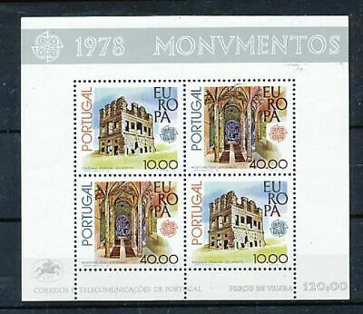 Timbre Stamp Zegel Portugal Bf23 Europa 1978  Xx