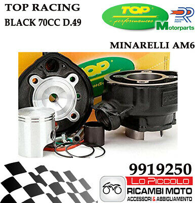 9919250 Gruppo Termico Cilindro Top Racing Minarelli Am6 D.49 In Ghisa 75Cc