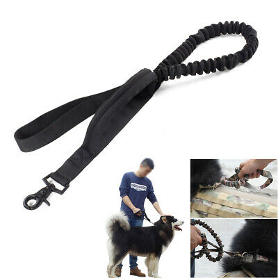 Tactical Military Police Dog K9 Canine Training Elastic Leash Strap Bungee Rope