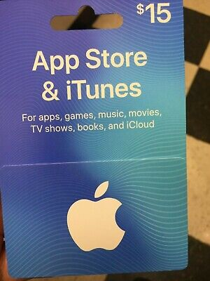 $15 Apple Gift Card iTunes / App Store FREE SHIPPING
