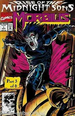 Morbius The Living Vampire #1 Comicbuch - Marvel 1992 Rise Of The Midnight Sons