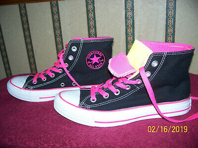 b80174d88252 Converse All Star Chuck Taylor Double Tongue High Top Shoes Size Women s 8